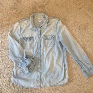 Merona chambaray long sleeve shirt